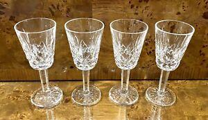 Waterford Crystal Stemmed Sherry Port Glass Lismore Set of 4 Barware