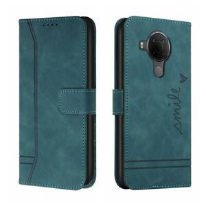 Magnetic Case For Nokia 1.4 3.4 2.4 5.4 C1 C2 C3 Retro Leather Flip Stand Cover