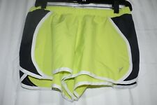 Athletic gym exercise Shorts green gray size small