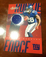 """2018 Absolute Saquon Barkley """"ROOKIE FORCE"""" RC NY Giants Jersey Patch Relic  WOW"""
