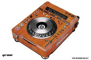 Skin Decal Wrap for Pioneer DVJX1 DJ Mixer CD Pro Audio DVJ X1 Part GRAIN