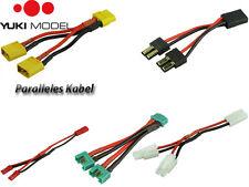 YUKI MODEL Amass parallele Kabel Akku Anschlusskabel Traxxas XT60 EC3 EC5 Tamiya