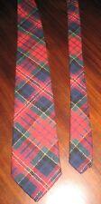 "Vintage Pendleton Neck Tie Colorful Plaid 100% Virgin Wool Narrow 55.5"" Length"