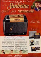 1956 Sunbeam ShaveMaster Golden Glide Electric Shaver PRINT AD