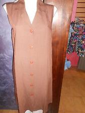 abito vestito  OREPICCOLE  tg.44/M  col. marrone  in viscosa/lino