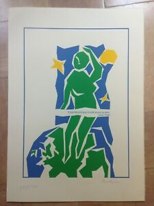 AFFICHE LITHOGRAPHIEE ORIGINALE JACQUES PREVERT NUMEROTEE & SIGNEE