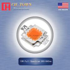 1Pcs 10W Watt High Power Full Spectrum 380-840nm SMD LED Chip Blub Beads Lamp