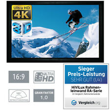 """HiViLux 3D/4K/UHD ALU Rahmen Leinwand 16:9/120""""/265x149cm/5J.Garantie/Schienen/A"""