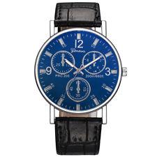 Fashion Men Crystal Stainless Steel Analog Quartz Date Sport Casual Wrist Watch