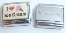 I LOVE ICE CREAM 9mm Italian Charm + 1x Genuine Nomination Classic Link HEART