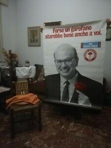 Manifesto originale pubblicitario del partito Socialista. Bettino Craxi.