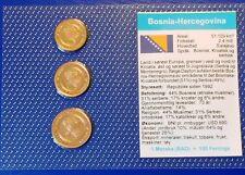 Bosnia Herce.10 - 50 feninga 1998 XF UNC Circulation Coin Set - World Currencies