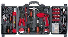 Household Tool Kit Set Case DIY Home Repair Tools Grip Handles 161 Piece