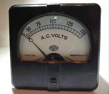 Vintage ROLLER SMITH 150 VOLT AC METER Type TAS Ww2 US Military HAM TUBE RADIO