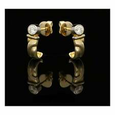 18ct Yellow & White Gold Diamond Stud Earrings - 0.44ct