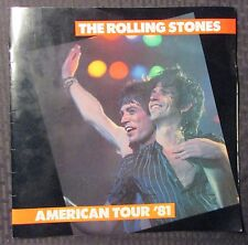"""1981 THE ROLLING STONES '81 American Tour 12x12"""" Program FN 6.0"""