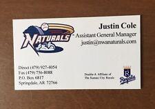 Baseball Business Card - Northwest Arkansas Naturals - AR