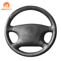 DIY Black PU Leather Car Steering Wheel Cover for Toyota Camry Avalon Highlander