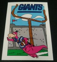 1993 CARDZ Team NFL The Flintstones NY Giants Schedule football card