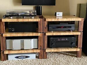 Custom Stackable Shelves Audio Rack Stereo, TV, Amp Stands