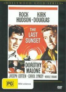 THE LAST SUNSET DVD 1961 NEW Region 4 Rock Hudson Kirk Douglas WESTERN RARE