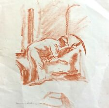 HERMANN STRUCK (1876-1944), Sepia Lithography , Worker , Signed, Numbered 4/30