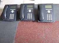 Lot 3 Avaya 9620L IP Business Telephone 700461197 9620D02L-1009 w Stand, Handset