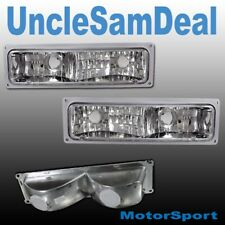 CHEVY C/K TRUCK TAHOE SUBURBAN CLEAR CHROME CORNER SIGNAL LIGHTS DIRECT FIT PAIR