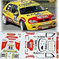 Citroën Saxo Rallye Monte Carlo 2002 #65 Romani Sola - 1:43 Pegatina Adhesivo