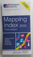 Old vintage OS Ordnance Survey Mapping Index January 2000