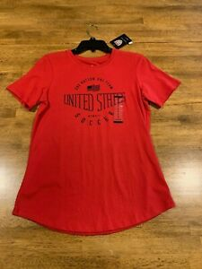 Nike Women's T-shirt US Soccer Short Sleeve Red Medium 726585 657 NEW With Tags