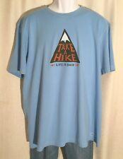 Life Is Good Mens Size XL *take a Hike* Mountain Blue Crusher T-shirt Tee