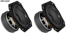 2 Stück Monacor Kompakt Tief- Mitteltöner SPP-110/8 60Wmax 90db/W 8Ohm 110mm
