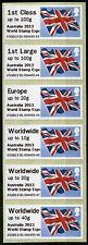 GREAT BRITAIN BRITISH FLAG SELF ADHESIVE STAMPS STRIP OF SIX   AS ISSUED