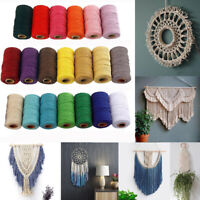 100Mx2mm Sewing Threads Colored String Braided Cotton Rope DIY Craft Products
