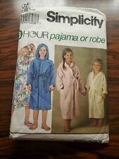 Simplicity Pattern # 8090 - Child's Pajamas, Nightgown & Robe - Size 5-6X