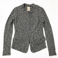 ANTHROPOLOGIE Dolan Herringbone Print Knit Women's Cardigan Blazer Size Small
