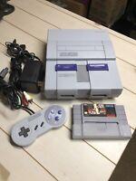 Super Nintendo System SNES 1CHIP-01 Model Console Controller Bundle