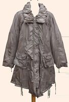 Lagenlook Padded Parka Coat Khaki Plus Sizes 18/20+ & 22/24+