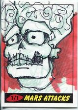 Mars Attacks Heritage Sketch Card By Kevin Bloomfield
