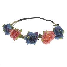 Womens Flower Garland Wedding Bride Bridal Headdress Headbands Bohemian Crown