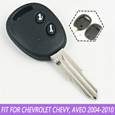 For Chevrolet Chevy Aveo 2 Buttons Remote Key Fob Case Shell Uncut Blank Blade