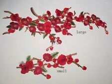 Embroidered Red/Pink/Blue/Purple Flower Patch iron on Appliques Wholesale FL4