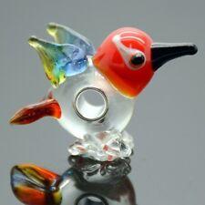 Bird 3D Animal Lampwork Glass 20mm Single Core Large 4.5mm Hole Charm Bead