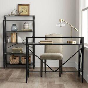 Fairmont Metal Desk With Hutch - Threshold