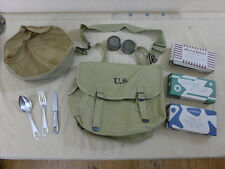 US ARMY ww2 m1936 Musette Bag Sac de combat avec couverts BSD rations laver Coque