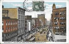 Main Street Looking West fr Franklin Street Rochester Monroe County NY used 1920