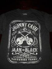 Johnny Cash Man in Black T Shirt Size L
