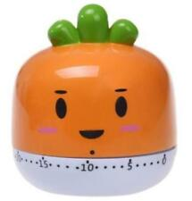 New CARROT Mechanical Kitchen Timer 60 Minute Wind Up Cooking Alarm ~ USA SELLER