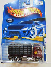 HOT WHEELS 2000 - FORD STAKE BED TRUCK #191 RED